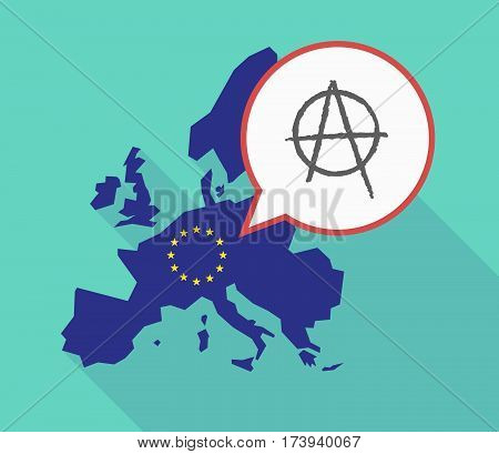 Eu Map With An Anarchy Sign