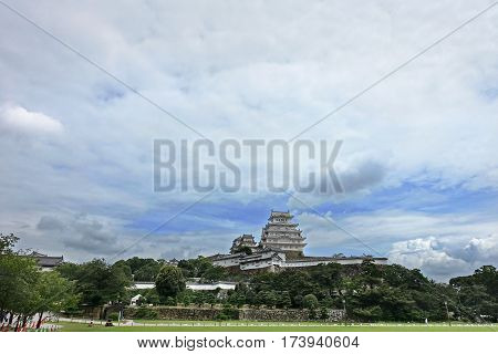 Himeji castle is the Japan largest castleas White Heron Castle and Hollywood movie Last Samurai was filmed here. In the clouds gathered a lot during rainy days.