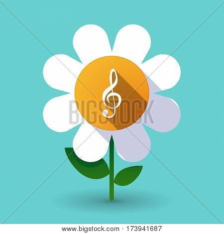 Long Shadow Daisy With A G Clef