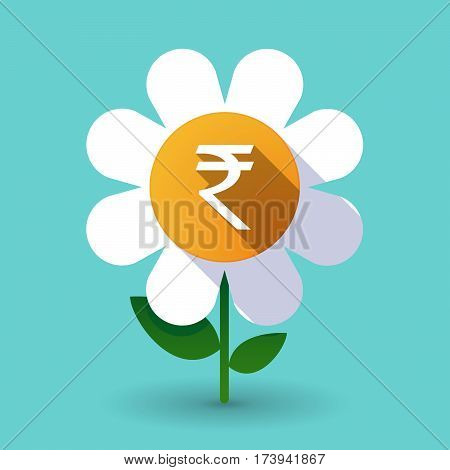 Long Shadow Daisy With A Rupee Sign