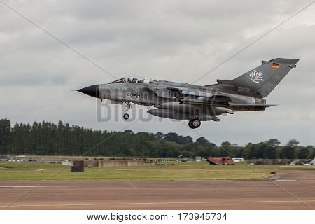 German Luftwaffe Tornado Lands At Riat