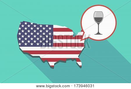 Usa Map With A Cup Of Wine