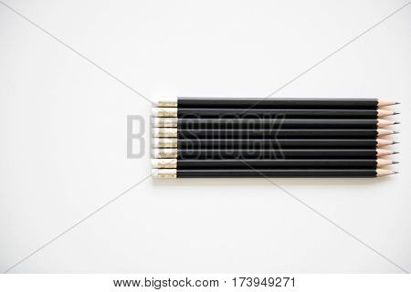 Pencil Lined Up Row Neat