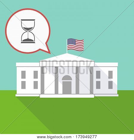 The White House With A Sand Clock