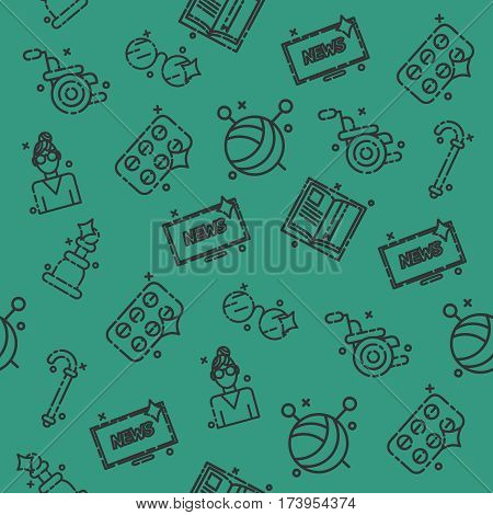 Old age set pattern. Vector illustration, EPS 10