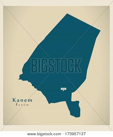 Modern Map - Kanem TD illustration silhouette