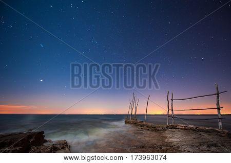 Cielo stellato, presso Salvore in Croazia .