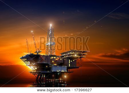 Installation for oil at night