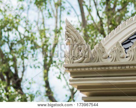 close up Gable apex of thai temple(Wat Ratchathiwat)