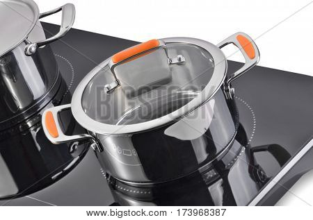 Modern dishes, induction cooker.