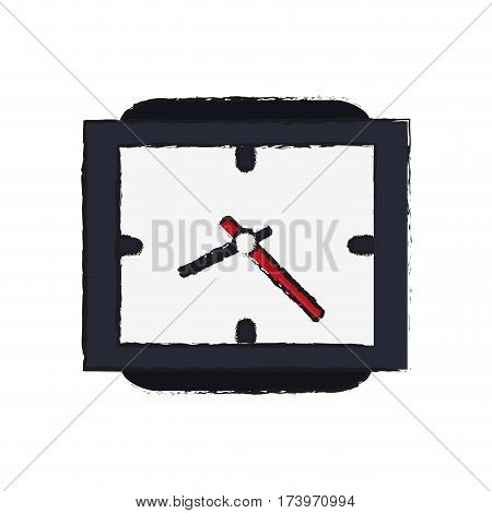 watch icon over white background. vector illustration