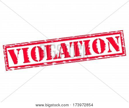 VIOLATION RED Stamp Text on white backgroud poster