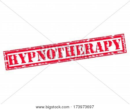 HYPNOTHERAPY RED Stamp Text on white backgroud