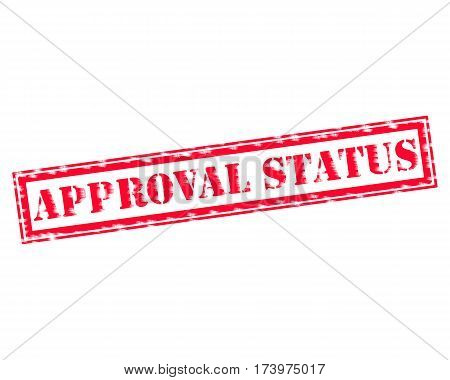 APPROVAL STATUS RED Stamp Text on white backgroud
