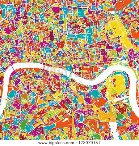London Colorful Vector Map