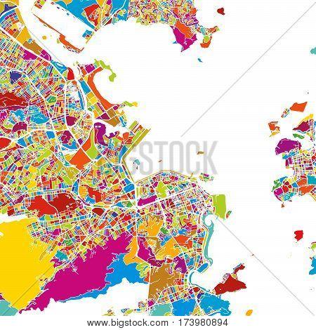 Rio De Janeiro, Brazil, Colorful Vector Map