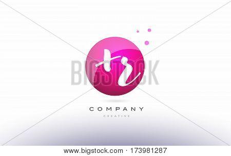Xr X R  Sphere Pink 3D Hand Written Alphabet Letter Logo