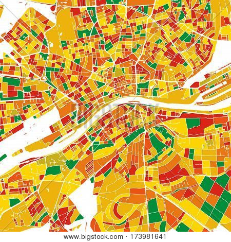 Frankfurt Colorful Vector Map