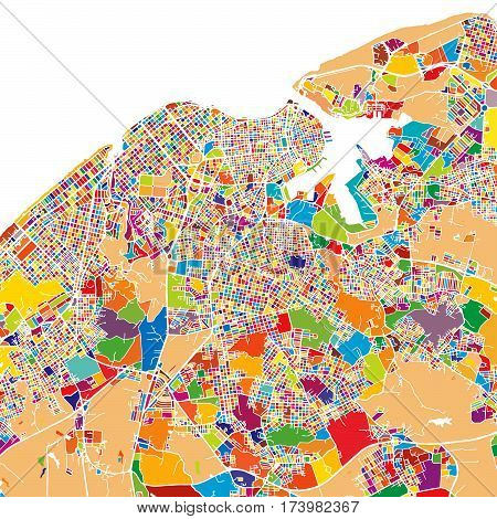 Havana Colorful Map
