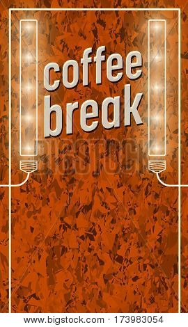 Background of marble and the words coffee break