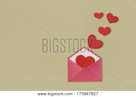 Love Letter Heart Floating Mail Correspondence Relationship