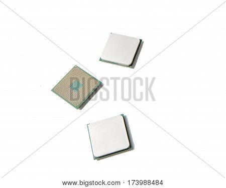 Amd Cpu. 3 Pieces Isolated