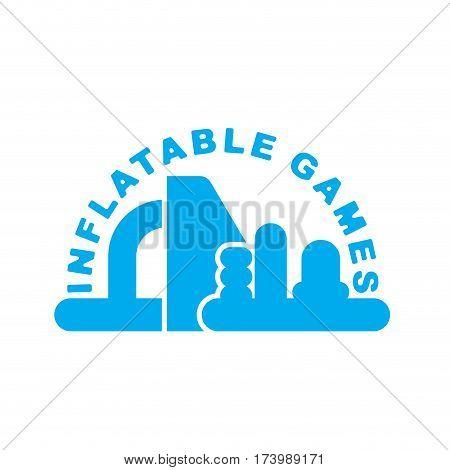 Inflatable Games Logo. Emblem For Water Park Amusement