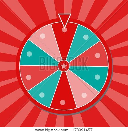 Lucky wheel close up vector illustration. Lucky wheel vector