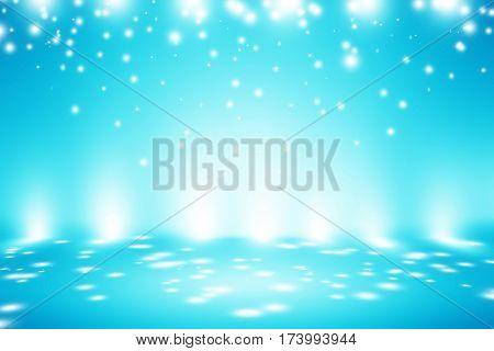 light blue room studio gradient background / blue radial gradient effect