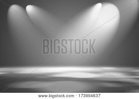 soft dark gray studio room background, grey floor backdrop with spotlight