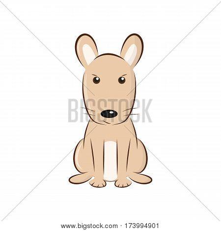 cute cartoon rodent or a cute dog - vector illustration