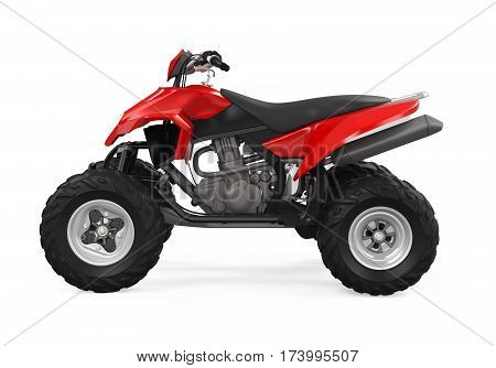 All-Terrain Vehicle isolated on white background. 3D render