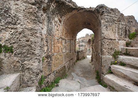 Archway at Antonine Thermae; Tunis; Tunisia