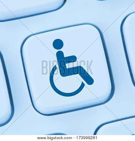 Web Accessibility Online Internet Website Computer People Disabilities Blue