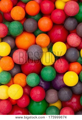 Colorful multi colored candy bubble gum background