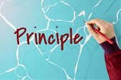 Morality Principle Virtuous Water Graphic Word poster