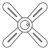 Propeller icon. Outline illustration of propeller vector icon for web poster