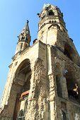 Berlin Kaiser Wilhelm Memorial Church Breitscheidplatz Square Built Structure Capital Cities poster
