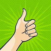Thumb up (raster version) poster