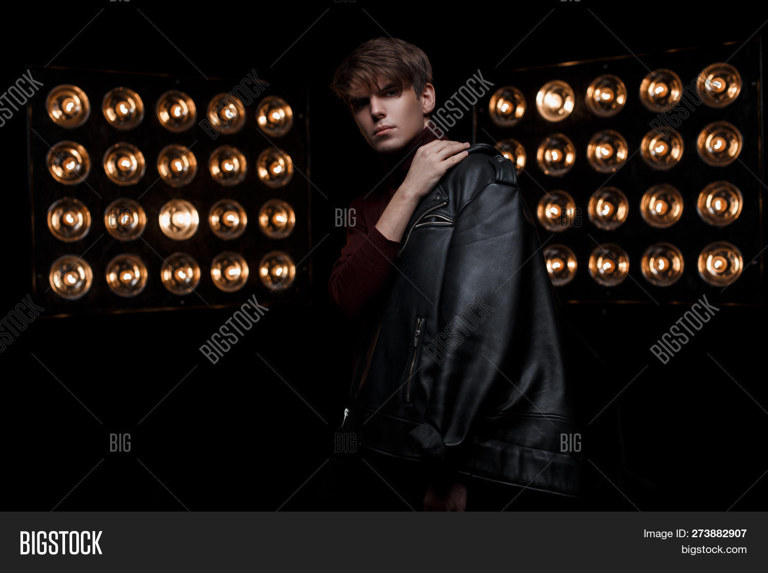 Serious Young Man Image Photo Free Trial Bigstock