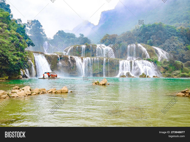 Ban Gioc Waterfall Image Photo Free Trial Bigstock