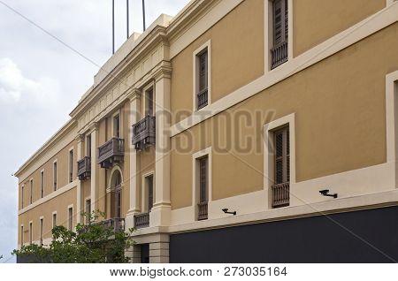 Architecture Of Musuem Building Exterior In Old San Juan Puerto Rico