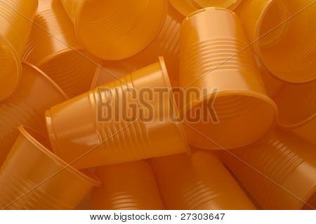 abstract background of plastic cups