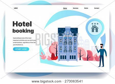 Web Page Design Templates For Hotel Booking, Search Hotel Rooms, Search In Other Countries, Search I