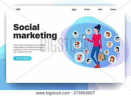 Web Page Design Templates For Digital Marketing, Social Marketing, Online Shopping, Marketing Techno