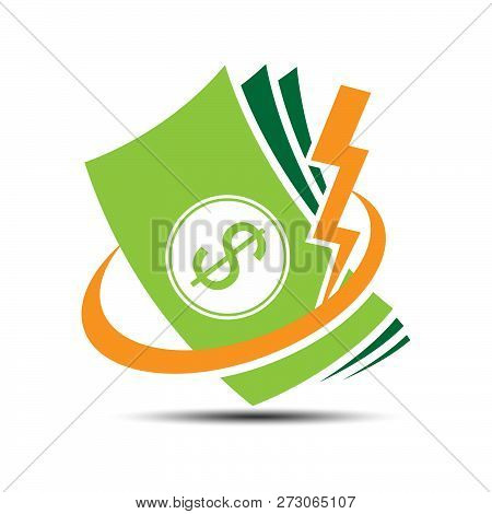 Money Icon Logo For Fundraising, Business Loan Money, Save Money, Money Energy  And Other Financial