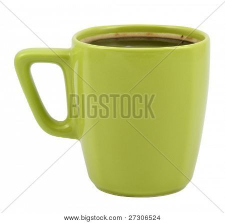 cup of coffee,isolated on white with clipping path