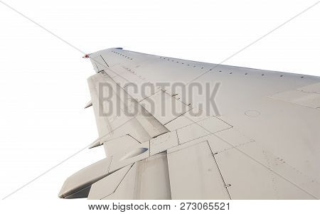 Isolated Jet Wing Plane During Flight, Left Wing View