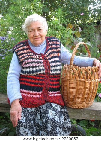 Granny With Basket