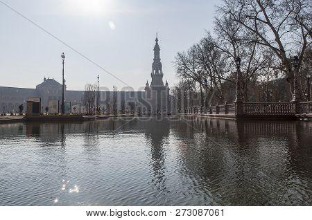 Plaza De España, Seville, Andalucia, España. Europa
